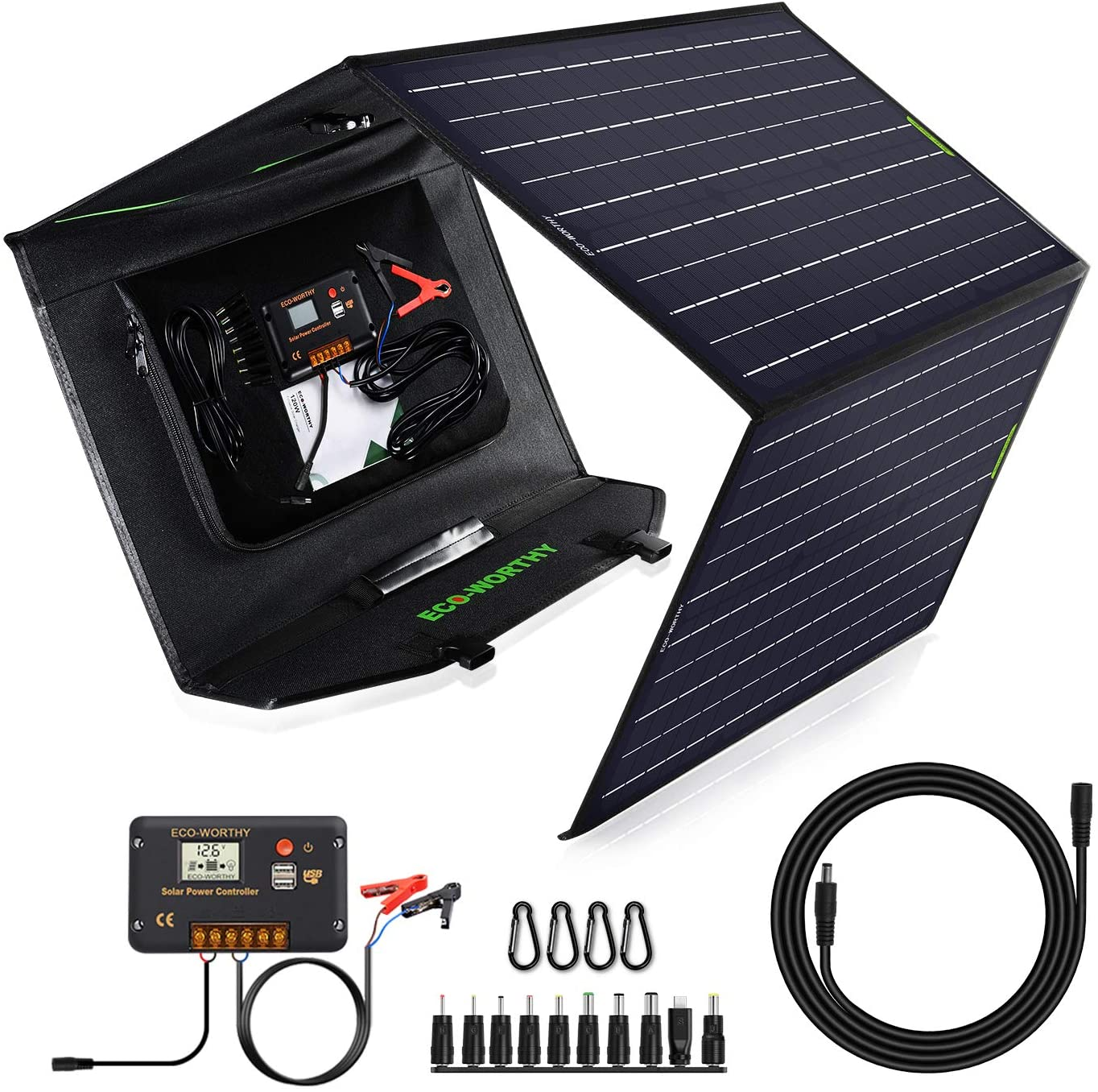 ECO-Worthy Upgrade 120 Watt Foldable Solar Panel