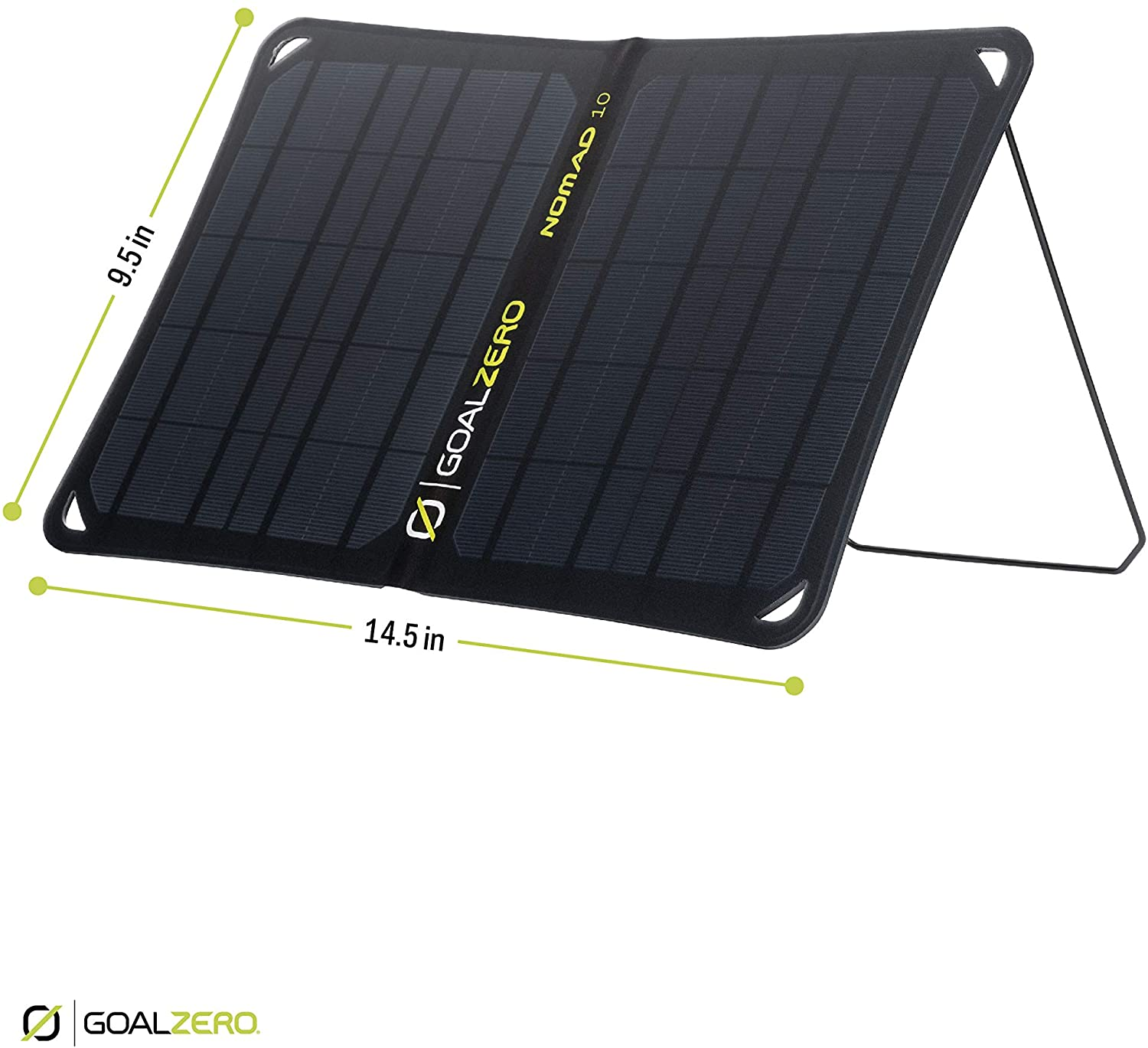 Goal Zero Nomad 10, Foldable Monocrystalline 10 Watt Solar Panel with USB Port, Portable Solar