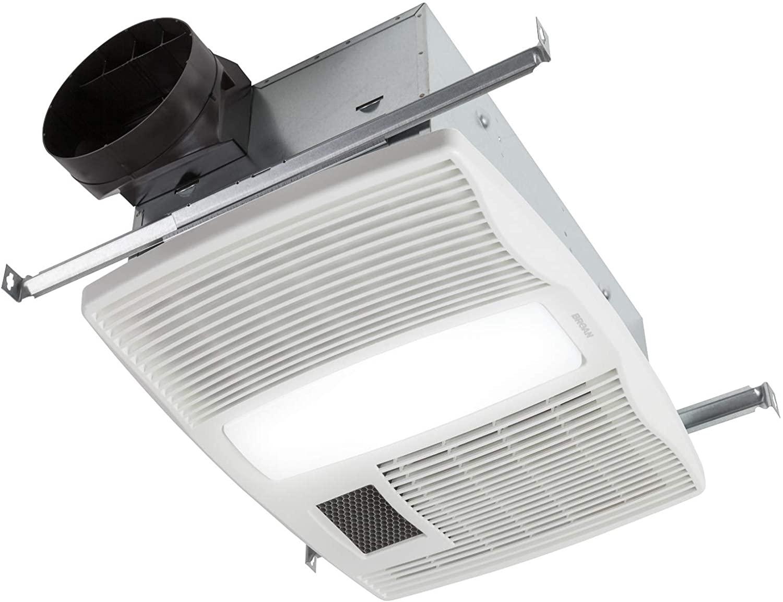 Broan-Nutone QTX110HL Very Quiet Ceiling Heater, Fan, and Light Combo for Bathroom and Home, 0.9 Sones, 1500-Watt Heater, 60-Watt Incandescent Light, 110...