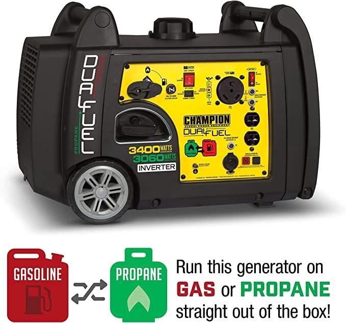 Champion 3400W Dual Fuel Portable Generator in the USA