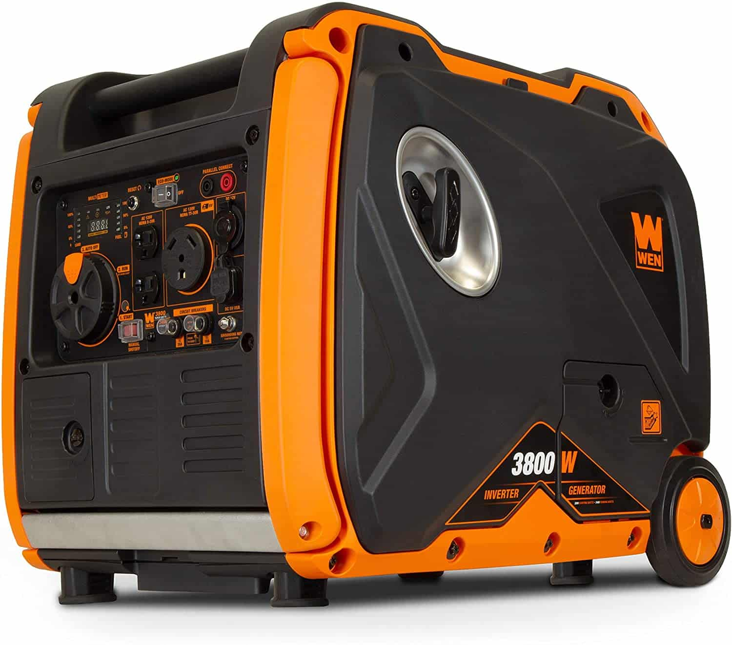 WEN 56380i Super Quiet 3800-Watt Portable Inverter Generator with Fuel Shut-Off and Electric Start