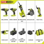 Ryobi P1819 18V One+ Lithium Ion Combo Kit