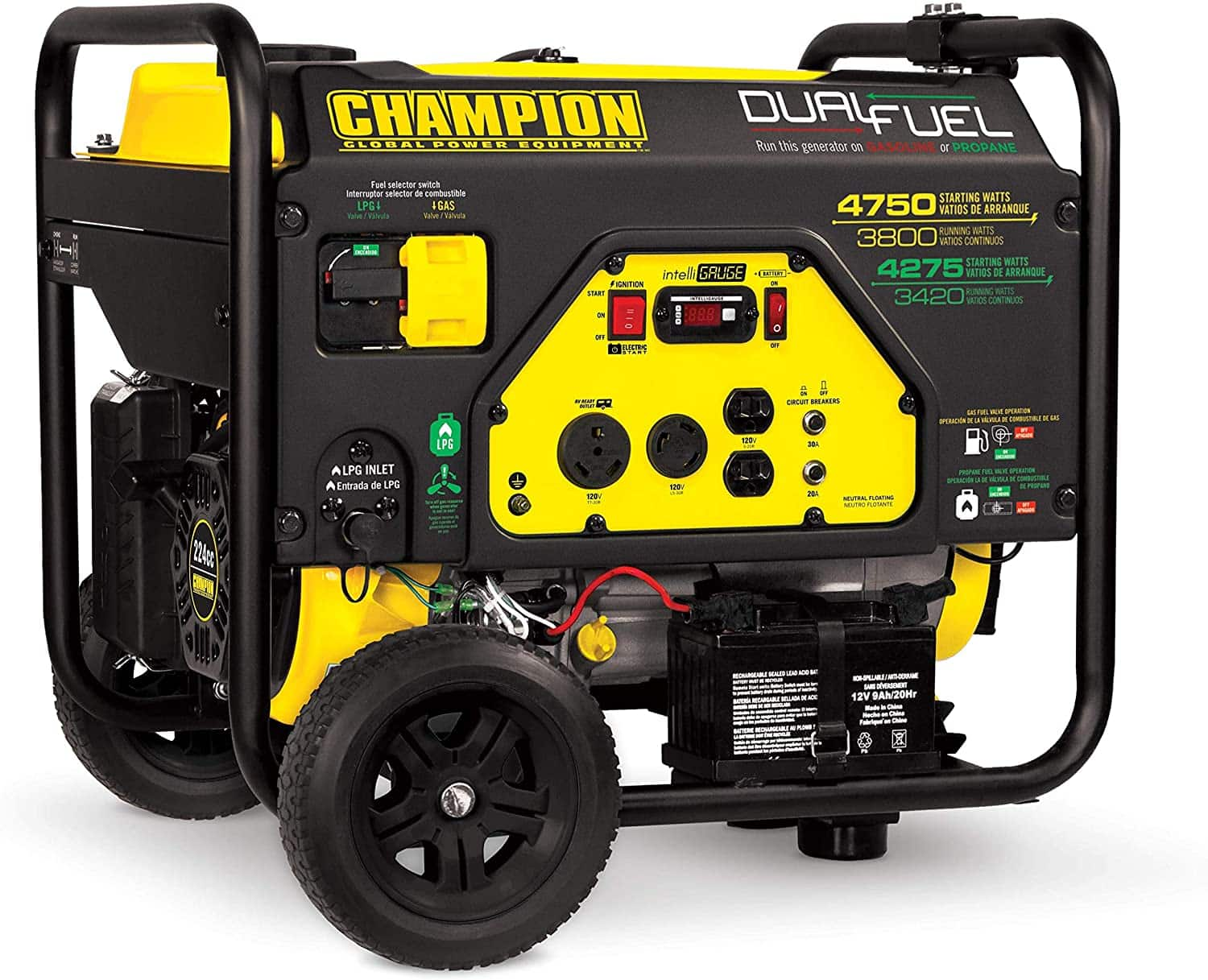 Champion Power Equipment 76533 4750/3800-Watt Dual Fuel