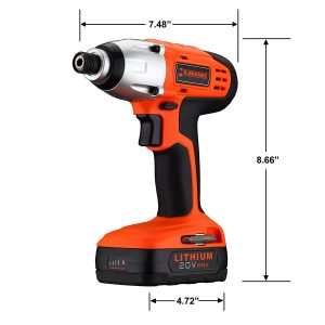 MR. ORANGE 20V LITHIUM-ION CORDLESS IMPACT DRIVER KIT-4